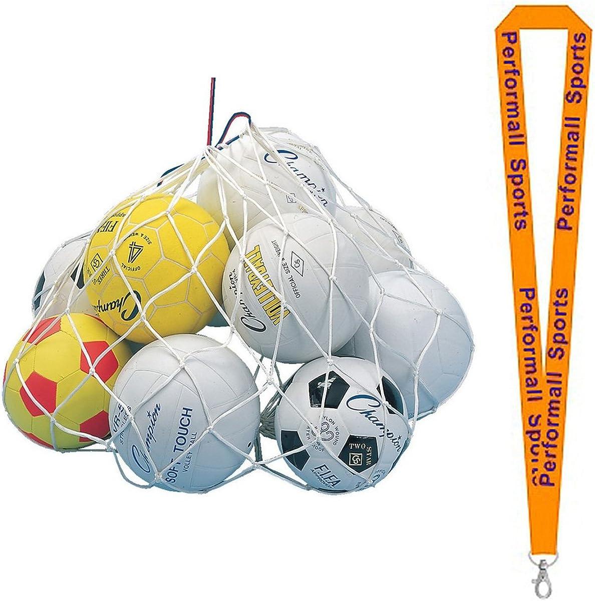Champion Sports 24x36 Inch Ball Bag White 2-Pack