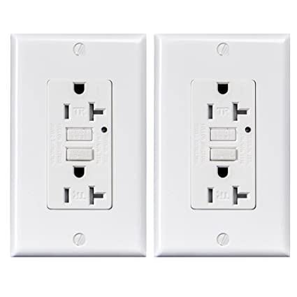 GFCI outlet 20 amp Tamper-Resistant Receptacle with LED Indicator ...