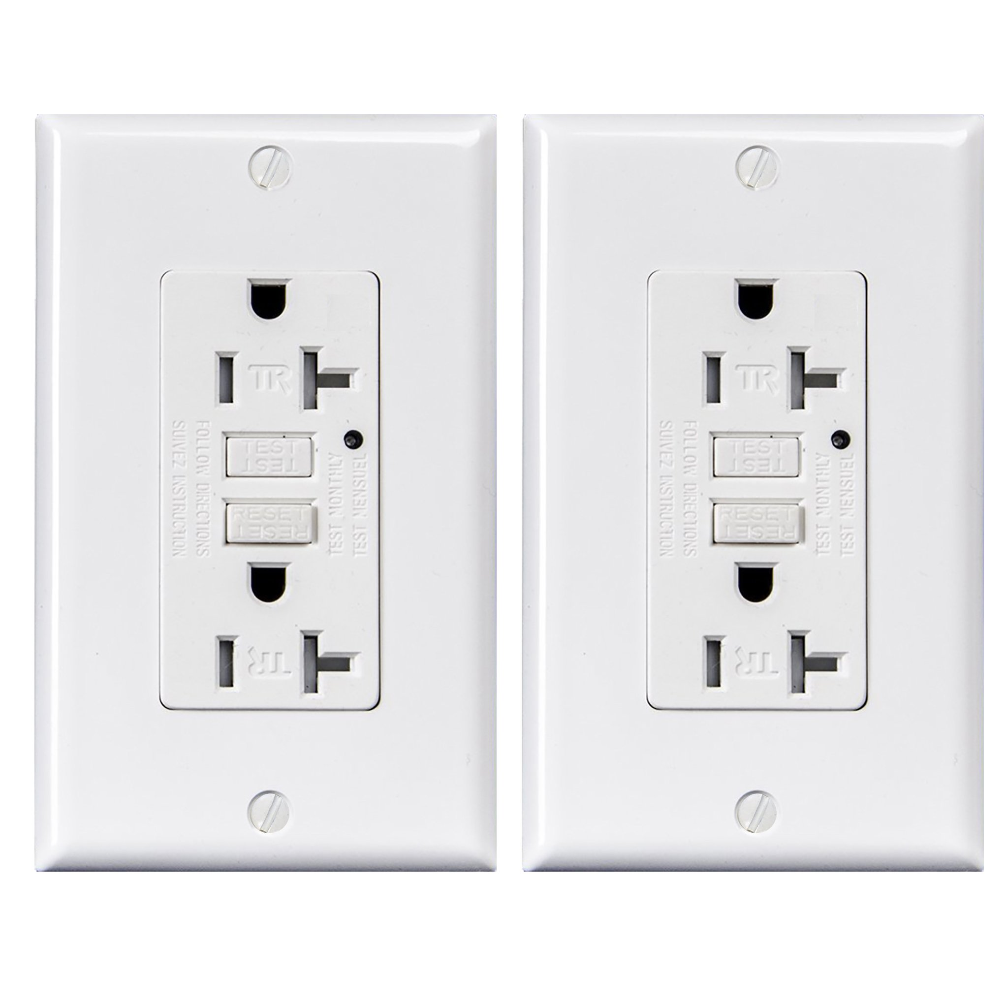 Best Rated In Ground Fault Circuit Interrupter Outlets Helpful Outlet Not Working How To Reset Your Gfci And Breaker 20 Amp Tamper Resistant Receptacle With Led Indicator 125 Volt Wallplate