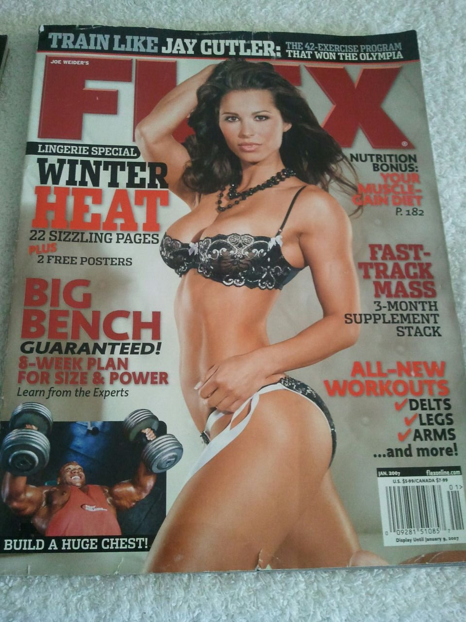 JOE WEIDER'S FLEX Magazine January 2007 (Joe Weider, Jay Cutler, Lingerie Special, Your muscle gain diet, Fast Track Mass) pdf epub