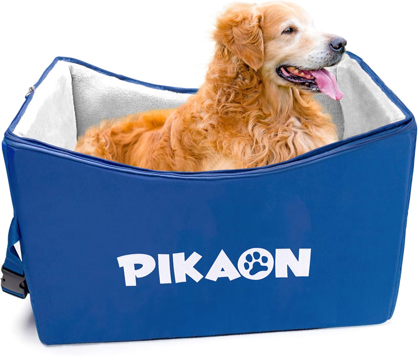 Pikaon Dog Booster Car Seat, Safety Upgraded Pet Lookout Seat, Cold and Hot Weather Use