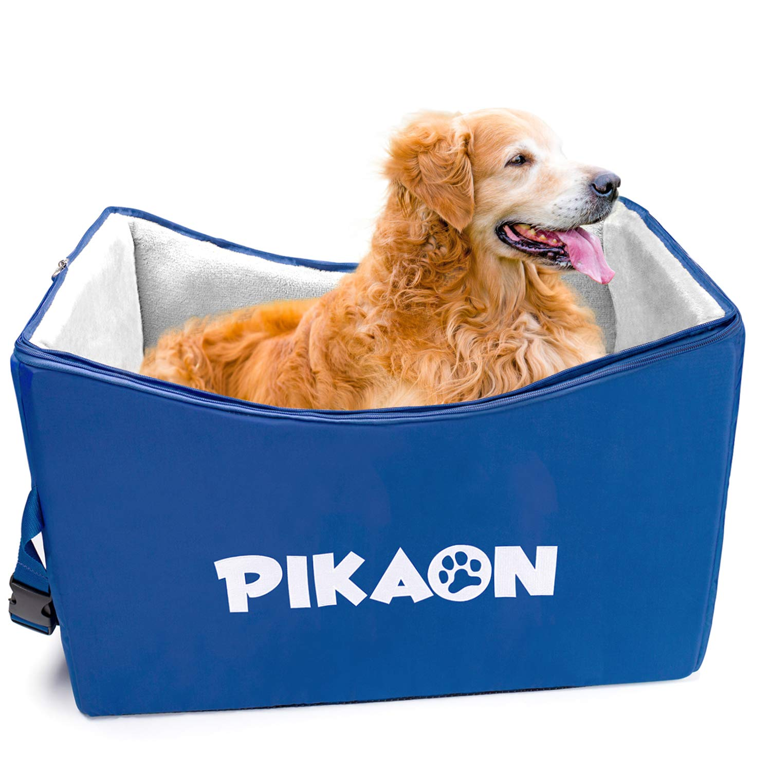 Pikaon Dog Booster Car Seat, Safety Upgraded Pet Lookout Seat, Cold and Hot Weather Use by Pikaon