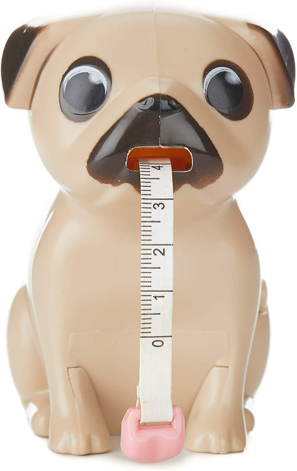 Paladone Pug Tape Measure - Includes: Measurements in Both inches and Centimeters. Approx. 40 Inches in Length.