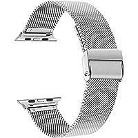 TRUMiRR armband, kompatibelt med 40 mm 38 mm Apple Watch, män, kvinnor, rostfritt stål, klockarmband, band i meshväv…