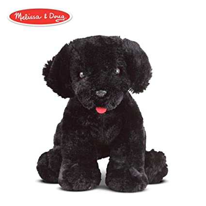 Melissa Doug Benson Black Lab Puppy Dog Plush Stuffed Animal 10 Inches
