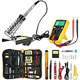 ZEEPIN Soldador eléctrico Kit profesional de estaño-16 en 1 Soldadura con maletín para free