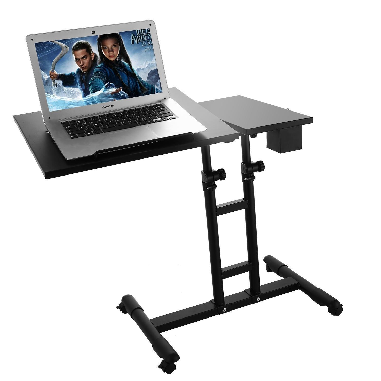 Laptop Rolling Cart, Height Adjustable Portable Mobile 360 Swivel Rolling Laptop Desk (Type2)