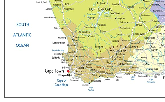 South Africa Political Map Paper Laminated A2 Size 42 X 59 4 Cm