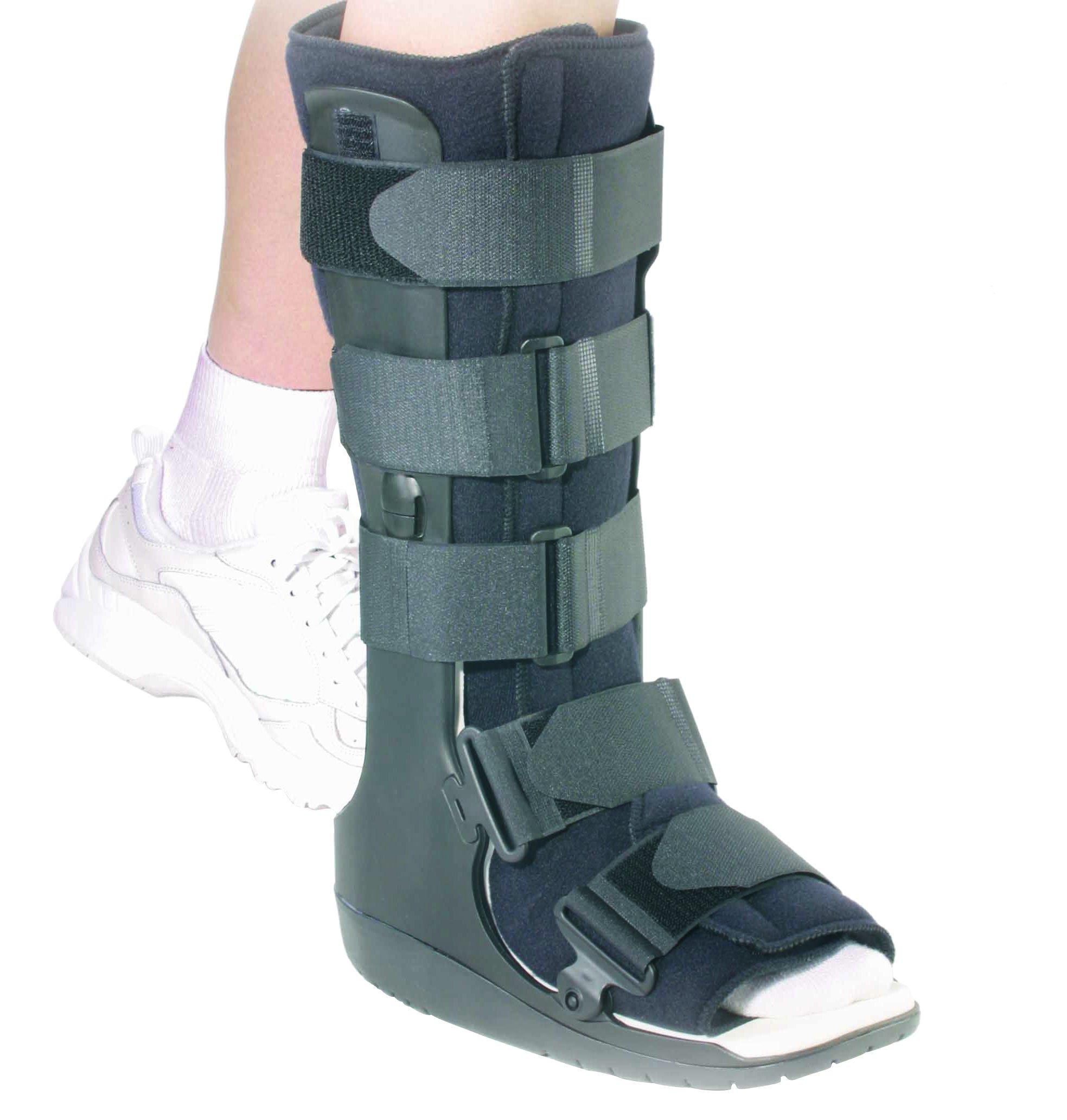 OTC High Top Leg Cast Walker Boot, Black, Small/Delux Tall by OTC