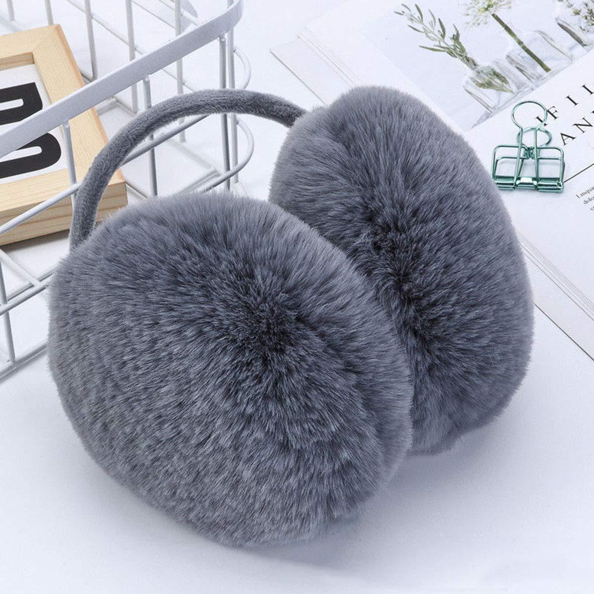 Mens//Womens//Girls Winter Faux Fur Ear Warmers Outdoors Earmuffs Behind the Head