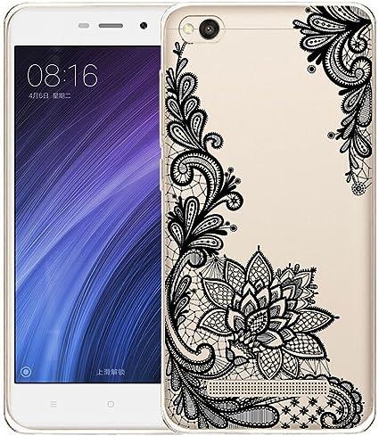 Funda para Xiaomi Redmi 4A Carcasa , YIGA Moda Flor gris Caso ...