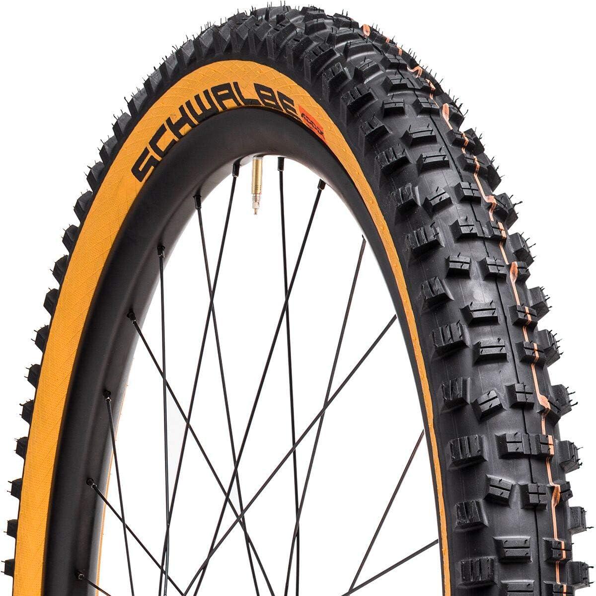 EvolutionLine Big Betty Downhill and Enduro Tubeless Folding Bike Tire 29 x 2.4 Black SCHWALBE Super Gravity Addix Soft