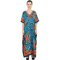 Miss Lavish London Dames kaftan tuniek kimono vrije maat lange maxi party jurk voor loungewear vakantie nachtkleding…
