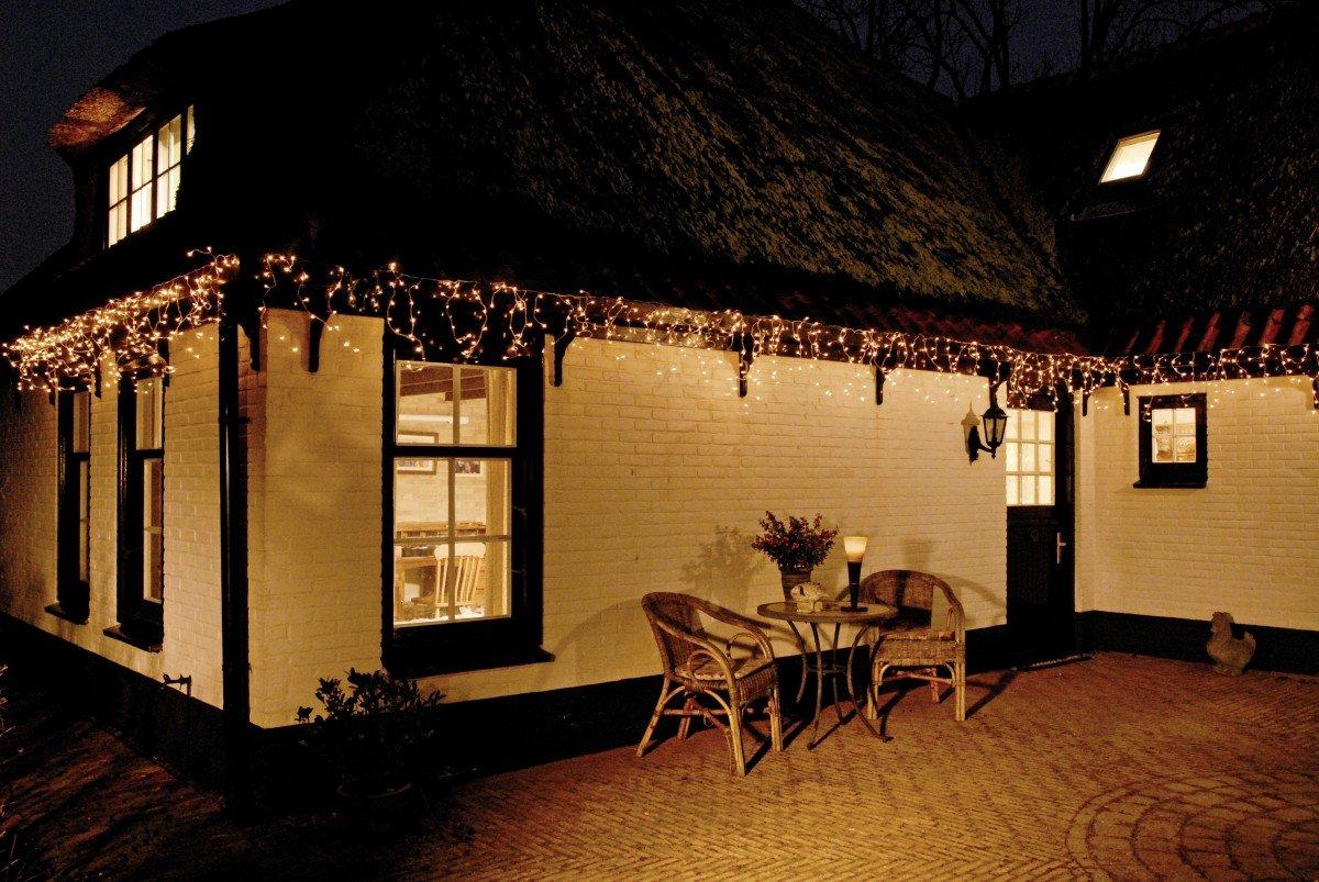 LED Eisregen-Lichterkette 168 warmweisse LEDs 4, 20m Außen + Innen 20m Außen + Innen 19495