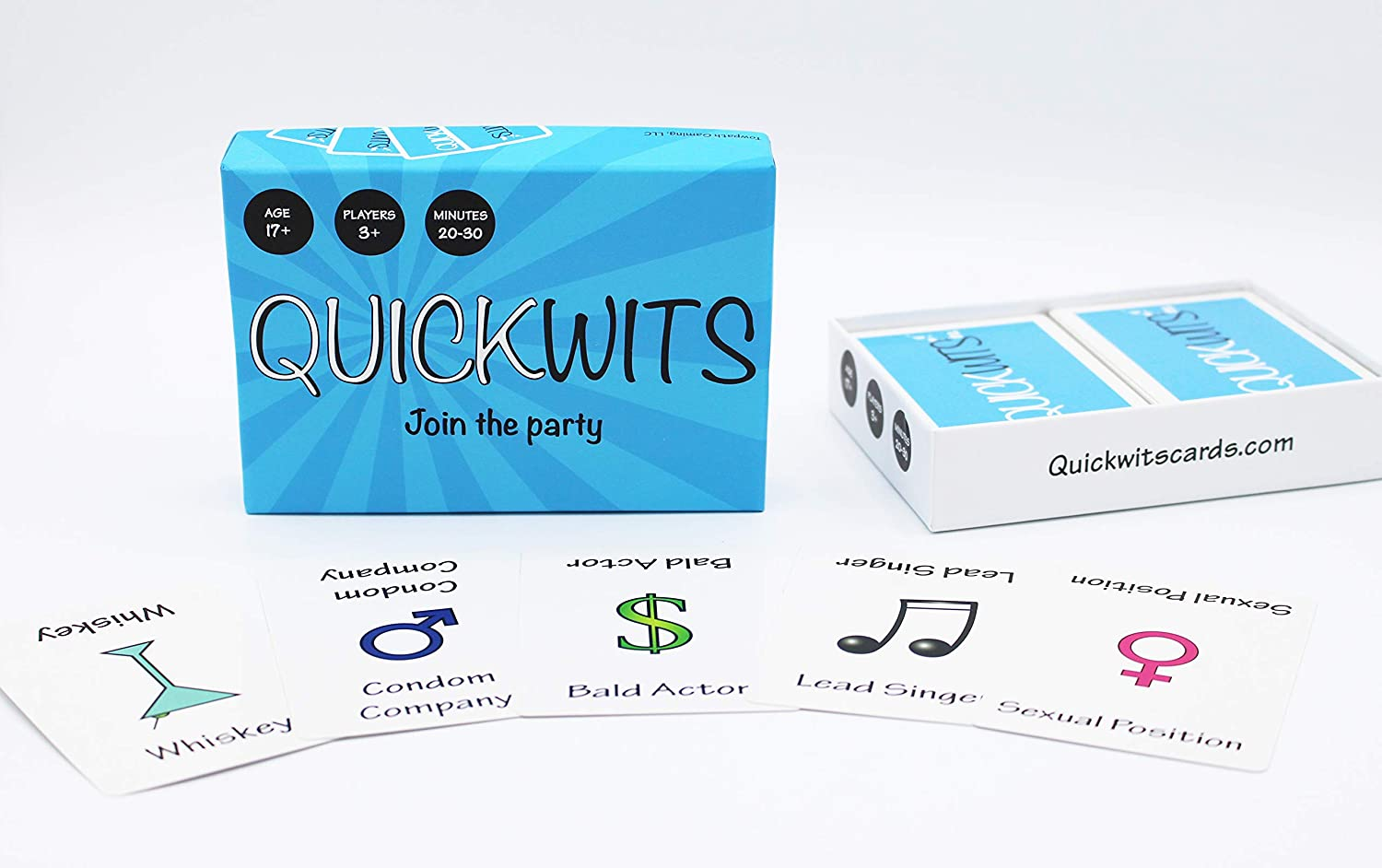 Amazon.com: Juego de cartas Quickwits Un divertido y social ...