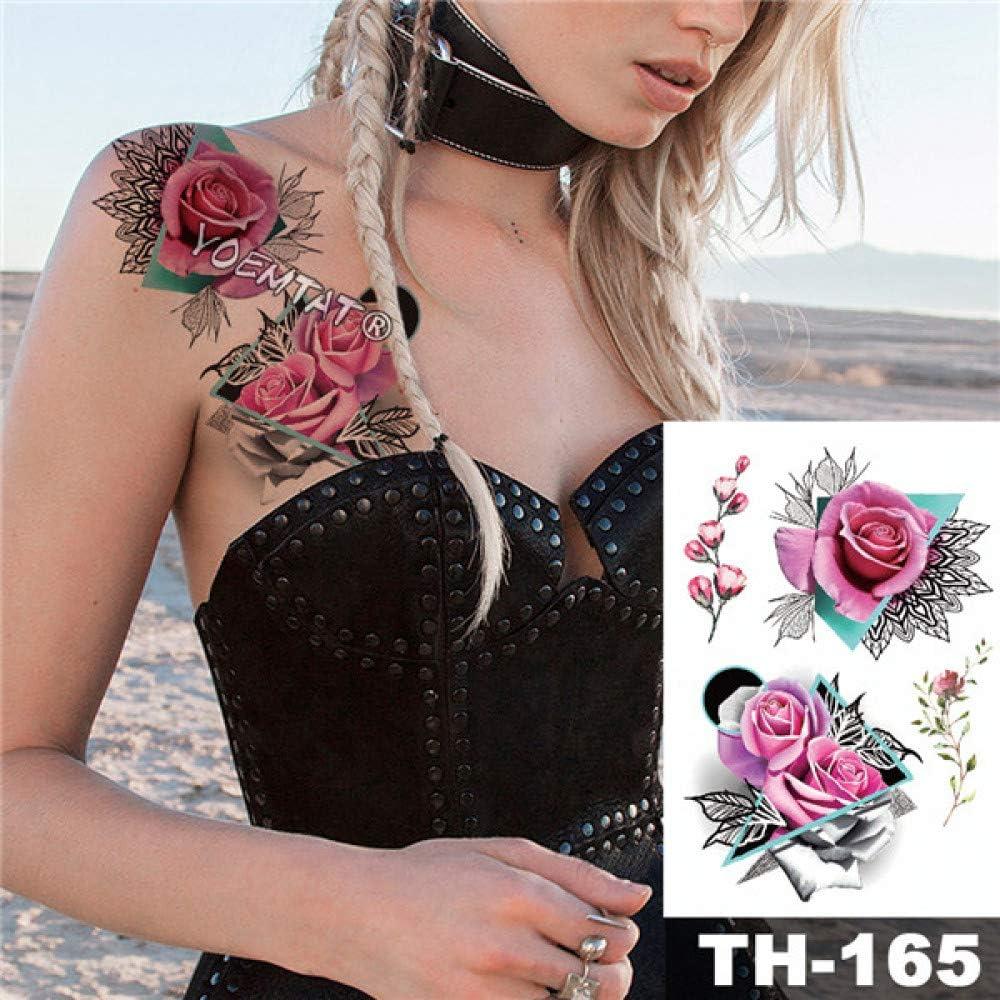 adgkitb 3 Piezas Impermeable Tatuaje Temporal Pegatina Rosa Loto ...