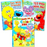 sesame street coloring book super set 3 jumbo books 480 pages total featuring elmo - Elmo Coloring Book