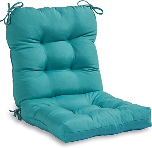 South Pine Porch AM5815-TEAL Solid Teal Outdoor Seat/Back Chair Cushion