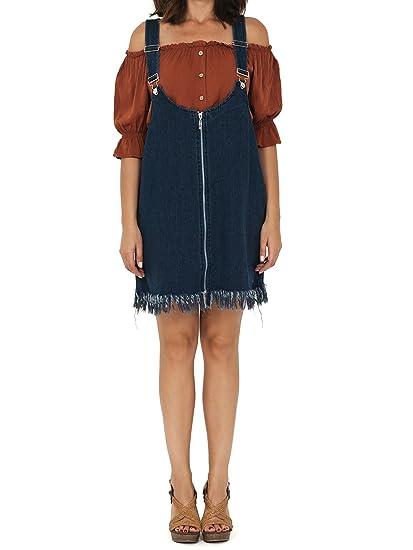 c67444fac1b VISSTEME Robe Salopette Jean  Amazon.fr  Vêtements et accessoires