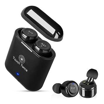 TOOGOO Control tactil de auriculares inalambricos Auriculares Bluetooth Verdadero Auriculares Inalambricos con Caja de Carga de Microfono Cancelacion de ...