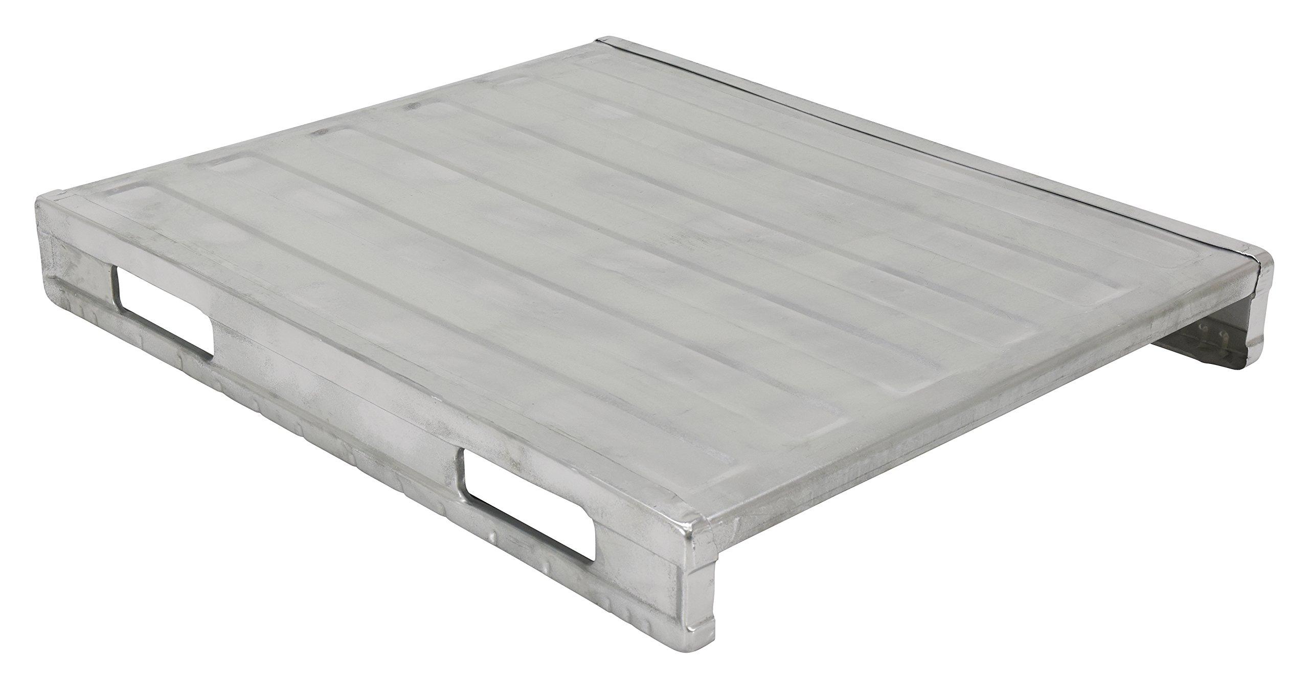 Vestil SDSP-4048 Steel Solid Deck Pallet, 4000 lbs Capacity, 40'' Width, 6'' Height, 48'' Depth