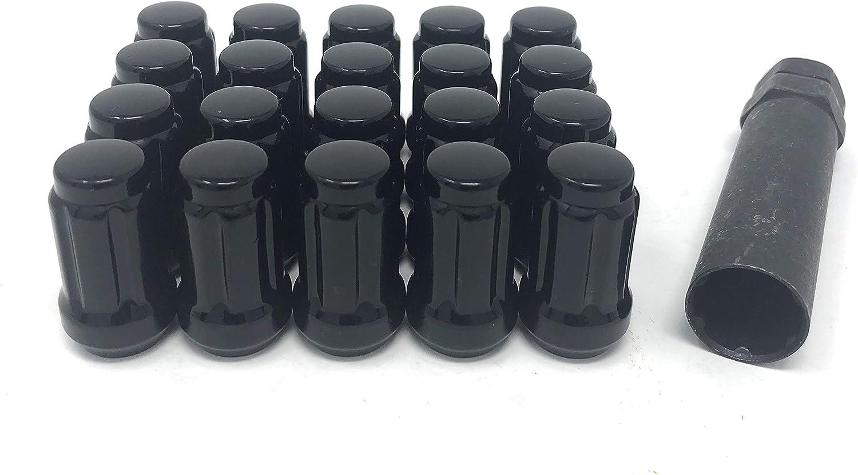 14mm x 1.5 Thread Size Kics WRE060B Bull Lock Black Lug Nut and Lock Set