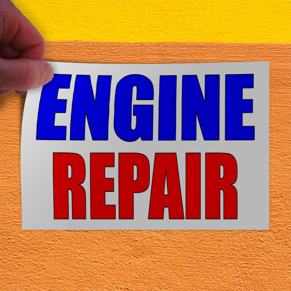 Decal Sticker Multiple Sizes Engine Repair Style S Automotive Engine Repair Outdoor Store Sign Blue One Sticker 69inx46in