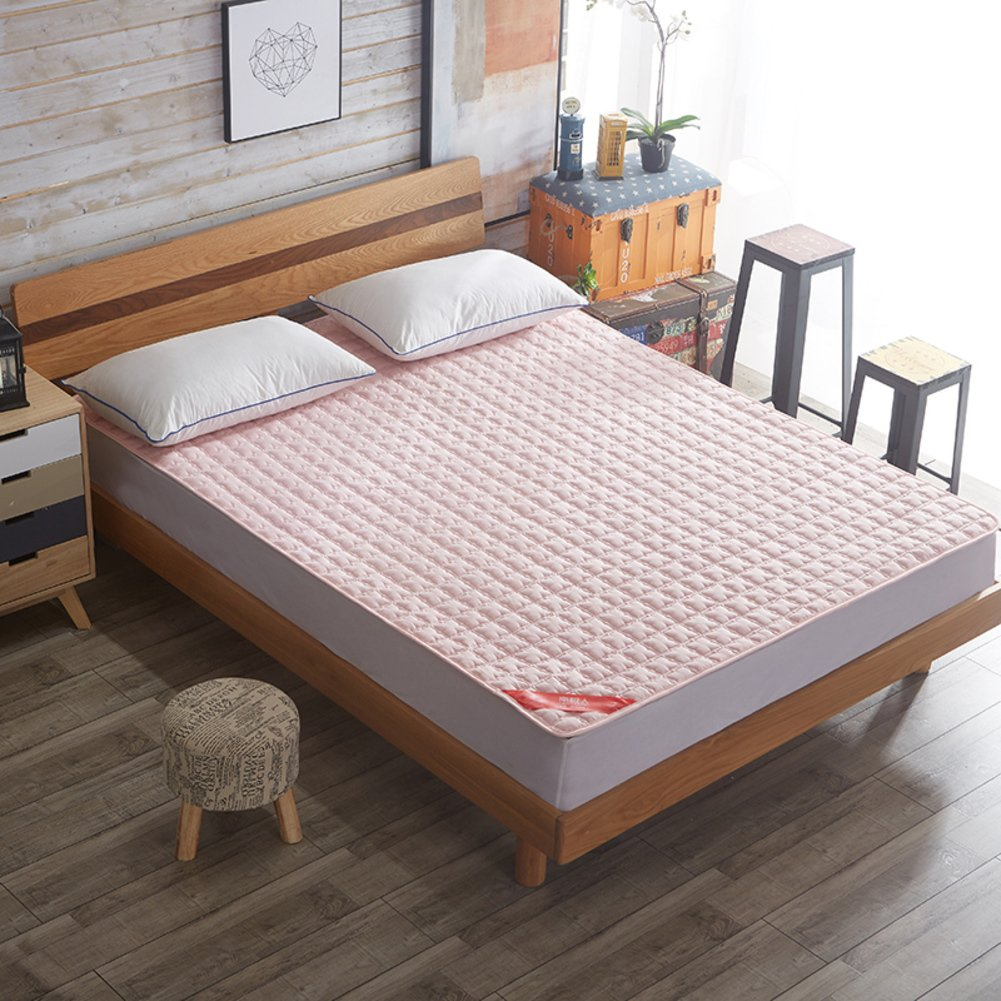 SL&CL Tatami Mattress,1.8m Bed Linen 1.2m Dormitory Student Mattress pad 1.5m Bed Double Foldable Cushion mats-Pink 180x220cm(71x87inch)
