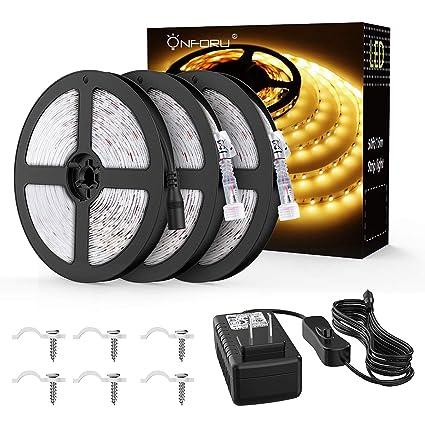 Amazon.com: Onfrou - Kit de tira de luces LED impermeables ...