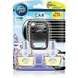 Ambi Pur Lavender Spa Car Air Freshener Starter Kit (2 X 7.5 ml)