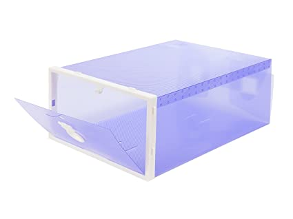 Smilun Shoes Organizer Shoe Box Storage Containers Foldable Clear Shoe Box  Dust Free Shoe Storage