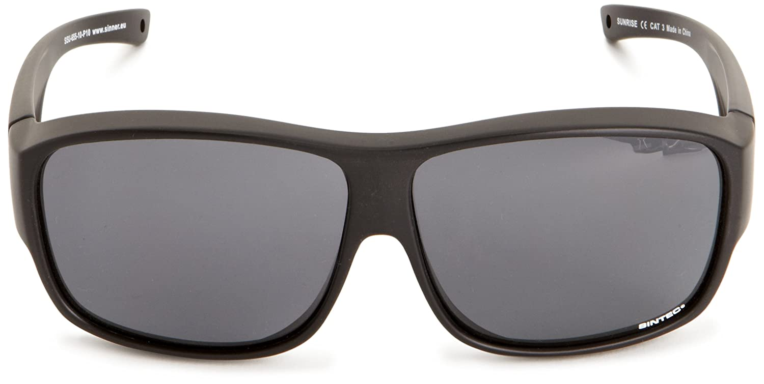 3e871c861e4 Sinner Sunrise OTG Polarised Sunglasses Matte Black One Size  Amazon.co.uk   Clothing
