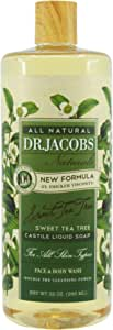 Dr. Jacobs Naturals Castile Soap Face & Body Wash, Sweet Tea Tree, 946ml