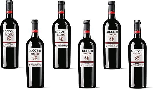 Logos II D.O. Navarra, vino tinto de guarda. Caja de 6 botellas: Amazon.es: Alimentación y bebidas