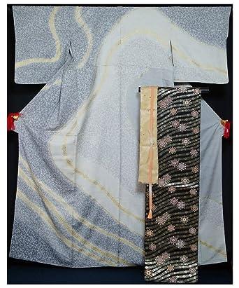 Amazon.co.jp: 着物セット 新品仕立上品訪問着と西陣袋帯