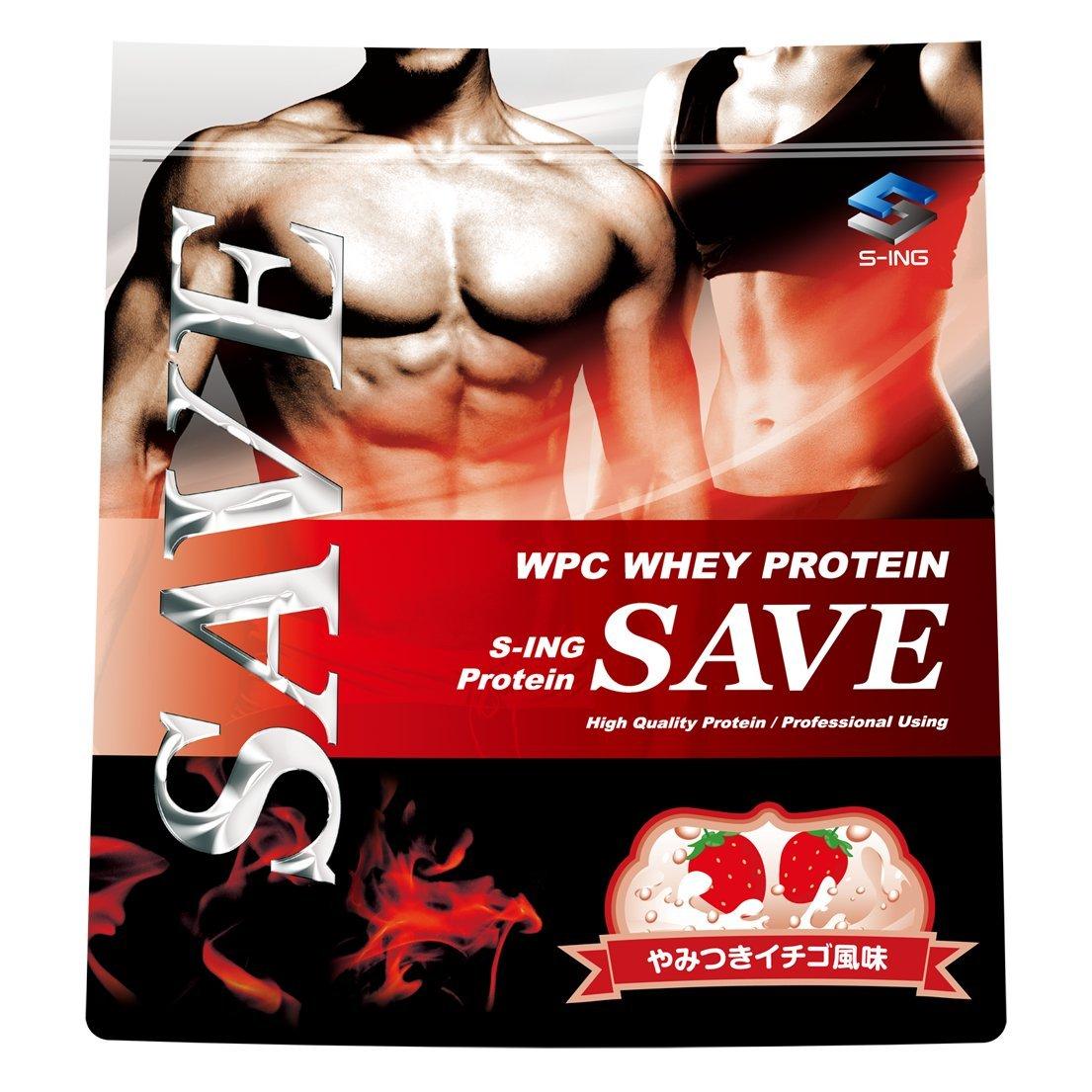 SAVE プロテイン やみつきイチゴ風味 5kg 美味しいWPC ホエイプロテイン 乳酸菌バイオペリンエンザミン酵素配合 B07DVK1S8S