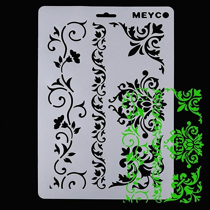 Ularma Mous de plástico reutilizable, modelo en plantilla de pulverización de pintura para decoración de paredes y muebles: Amazon.es: Libros