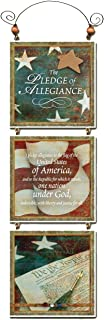 "product image for Imagine Design 13""x4.5"" Patriotic Tri Star Pledge Hanging Plaque, 13"" x 4.5"""