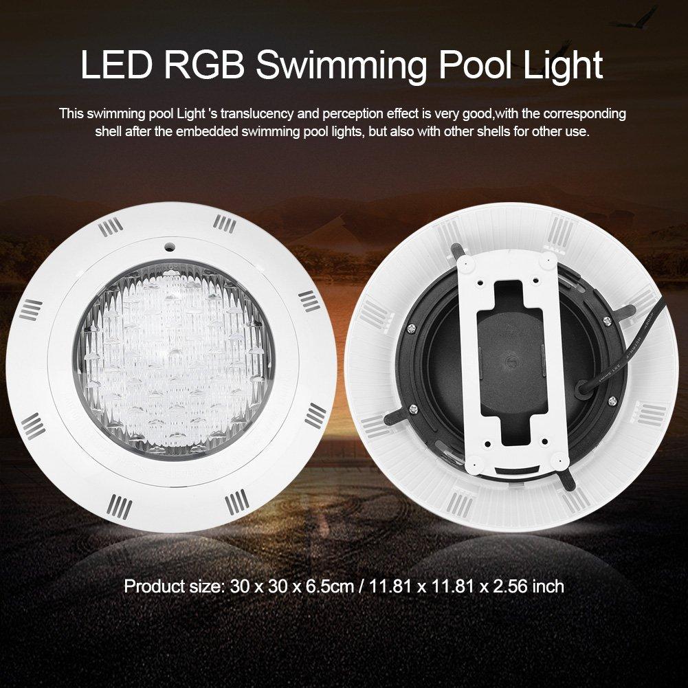 Fdit Schwimmbecken-Licht 12V 24 LED RGB Mehrfarbenunterwasserpool-helles Licht mit Fernbedienung Unterwasser Led Beleuchtung
