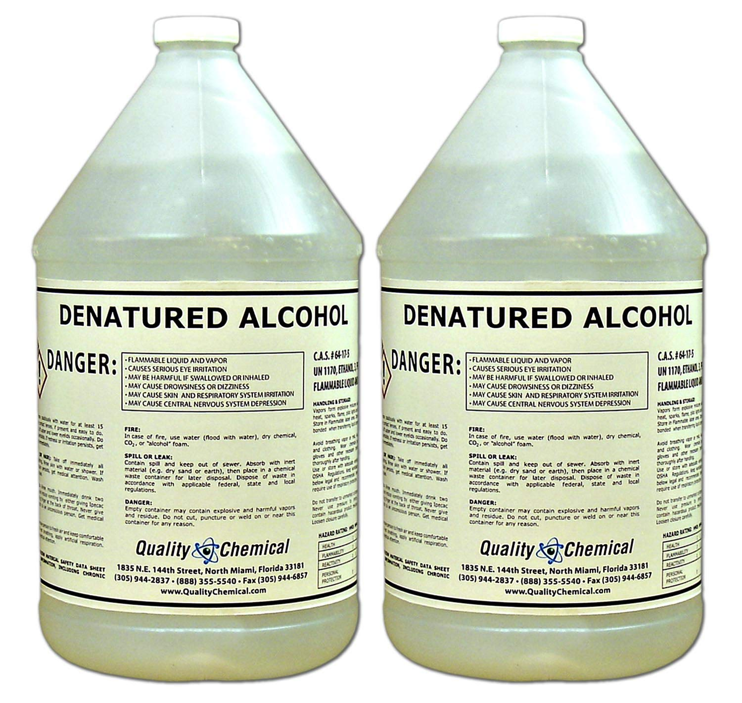 Denatured Alcohol (Ethanol)-2 gallon case by Quality Chemical