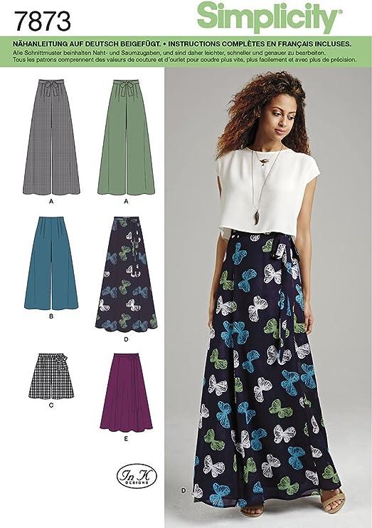 Burda Simplicity s7873.p5 patrón de Costura para Falda/Pantalones ...