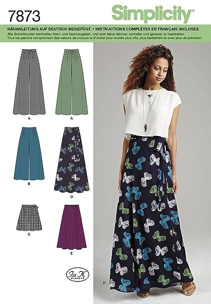 b51772f8e Burda Simplicity s7873.p5 patrón de Costura para Falda/Pantalones ...