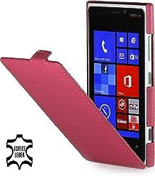 StilGut Ultraslim, housse exclusive de cuir véritable pour le Nokia Lumia 920, rose