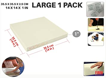 Ace Punch Firm Alta Densidad Gomaespuma de Tapicería Upholstery Cushion 35 x 35 x 2 cm AP1137: Amazon.es: Hogar