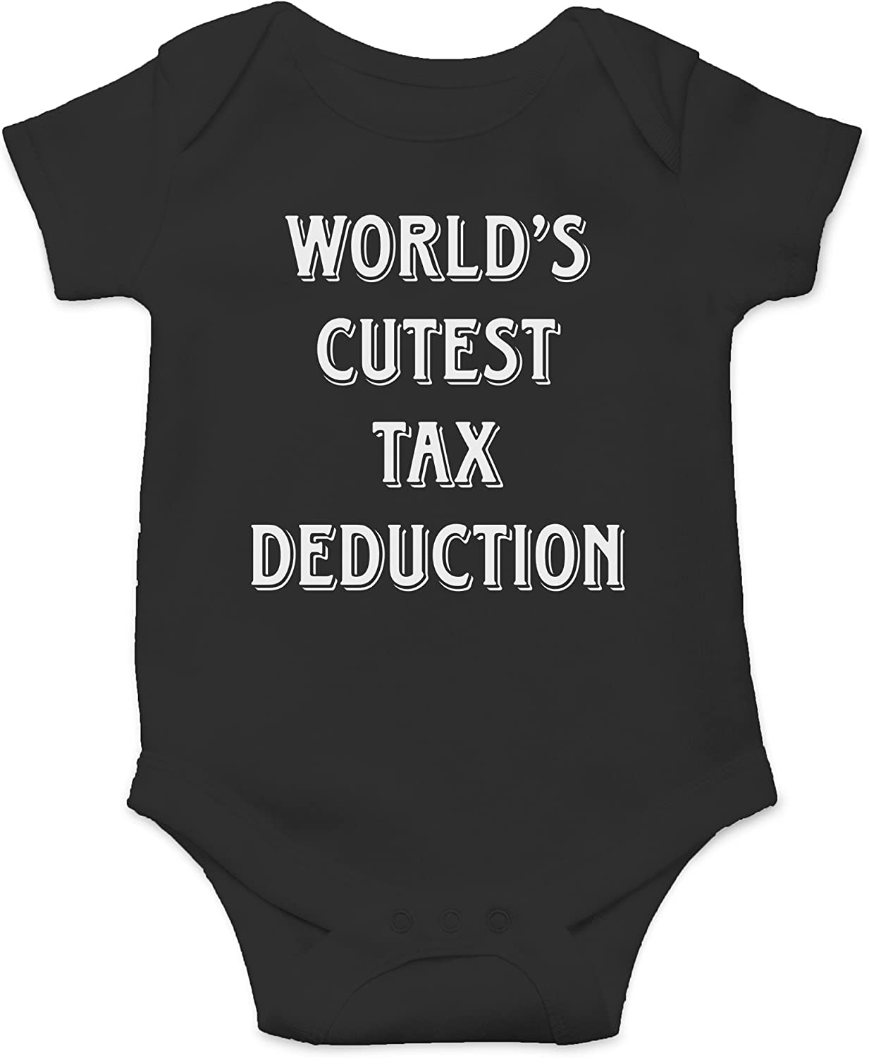 AW Fashions World's Cutest Tax Deduction Cute Novelty Funny Infant One-Piece Baby Bodysuit