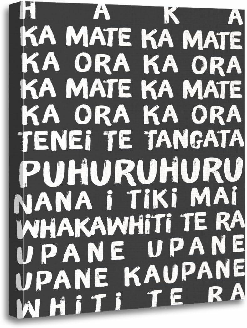 Amazon Com Torass Canvas Wall Art Print Dance Haka Rugby Lyrics New Zealand Maori Artwork For Home Decor 16 X 20 Posters Prints