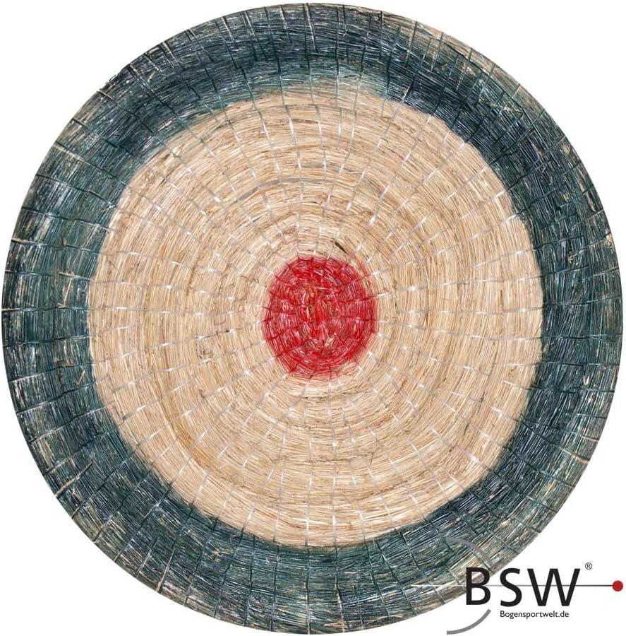 by Beier Germany 80 x 12 cm runde Traditionelle Strohscheibe Deluxe mit farbigen Ringen