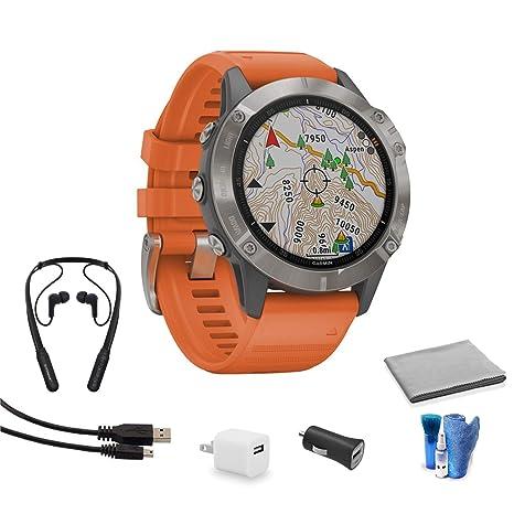 Garmin Fenix 6 Multisport GPS Smartwatch (47 mm | Sapphire ...