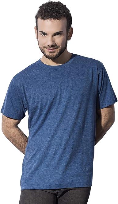 Nakedshirt - Camiseta Triblend Modelo Larry para Hombre ...