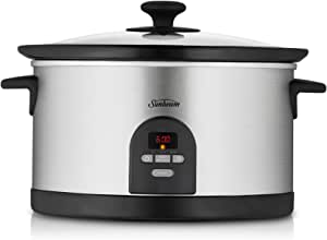 Sunbeam HP5590 Electronic Slow Cooker, Stainless Steel